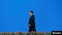 中国国家主席习近平2019年5月15日在北京出席亚洲文明对话大会。