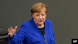 Chanceliere w'Ubudagi Angela Merkel