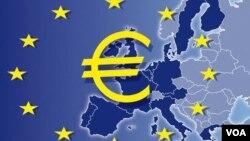 Europe euro zone map