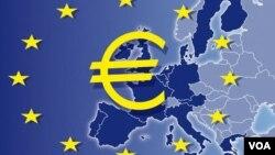 Peta negara-negara dalam zona Euro.