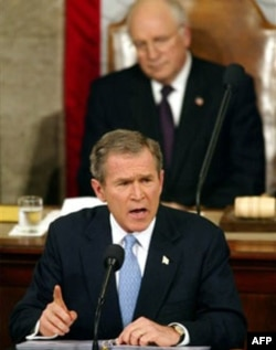 "President George W. Bush described Iraq, Iran and North Korea as an ""axis of evil"" during his State of the Union address to Congress in January 2002"