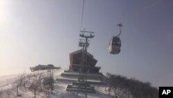Khu trượt tuyết Masikryong của Bắc Triều Tiên, nơi các vận động viên Nam, Bắc Triều Tiên tập huấn chung chuẩn bị tranh Olympic (ảnh tư liệu ngày 28/1/2018)