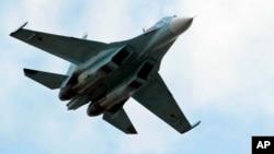 러시아 군의 수호이-30 전투기. (자료사진)