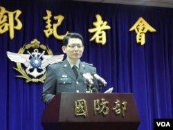 台灣國防部發言人羅紹和(美國之音申華拍攝)