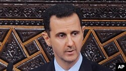 Syrian President Bashar al-Assad, addresses the Parliament, in Damascus, Syria, March 30, 2011 (file photo)