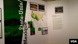 """Captured through photos, paintings, personal stories and videos, the """"Frontiers"""" exhibit looks not only at Europe's recent immigration history but also at some of the major border walls that exist in the world today, including the nearly 1,100 kilometers"""