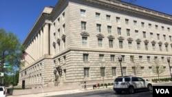 美国商务部总部大楼一侧(资料照)