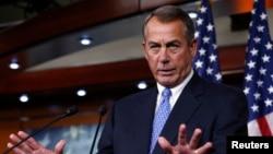 U.S. House Speaker John Boehner (R-OH) speaks at a news conference on Capitol Hill in Washington, D.C., Jan. 16, 2014.