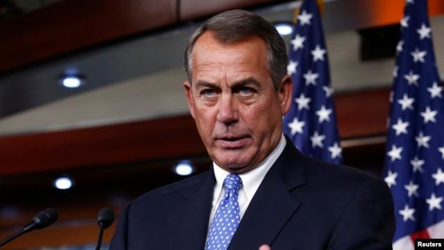 FILE - U.S. House Speaker John Boehner (R-OH) speaks at a news conference on Capitol Hill in Washington, D.C., Jan. 16, 2014.