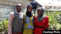 Adama, Awa and Penda (from left) were the three Starling Sponsorship Program recipients who recently completed high school. (Courtesy photo)