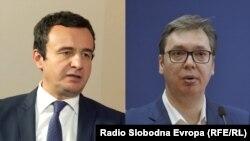 Kosovo -- Serbia -- COMBO, Kosovo politician Albin Kurti and Serbian president Aleksandar Vucic, undated