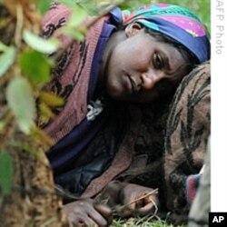 Une femme déplacée par les violences de 2008