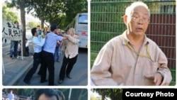 北京教授韩德强打老人,声言打得有理。---网络图片