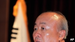 취임사 하는 류우익 신임 통일부 장관