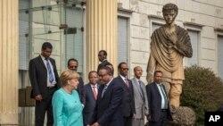 Angela Merkel et Hailemariam Desalegn, Addis-Abeba, le 11 octobre 2016.
