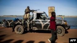 Des soldats maliens à Mopti, Mali, le 22 janvier 2013