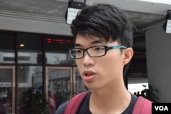 香港大學工程系二年級學生Ivan。(美國之音湯惠芸攝)