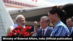 Le Premier ministre indien Narendra Modi en Ouzbékistan