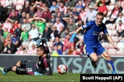 Jamie Vardy's big season helped Leicester City win its first English title.