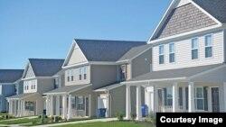 Family housing on Fort Riley. (Fort Riley, Kansas)