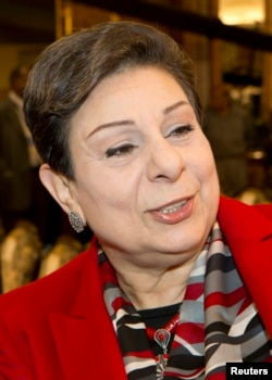 PLO official Hanan Ashrawi is pictured in this file photograph.