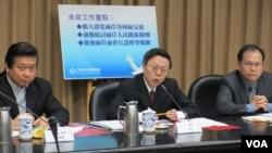 台灣陸委會年終記者會(美國之音張永泰拍攝)