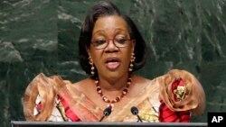 La présidente centrafricaine, Cathérine Samba-Panza