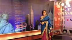 "Sabrina Choudhury is the host of the VOA Bangla TV show ""Hello America."""