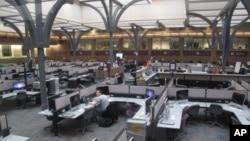 美国密西根大学的电脑室