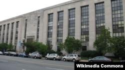 نمایی از ساختمان صدای آمریکا در شهر واشنگتن دی سی.