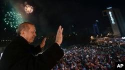 土耳其总理埃尔多安。