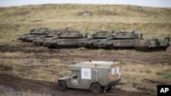 بلندی های جولان در خاک اسرائیل بعد از تنش های بامداد پنجشنه