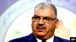 Khaled al-Obeidi, seorang anggota parlemen Sunni dari kota Mosul, baru dipilih sebagai menteri pertahanan baru di Irak.