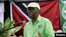 Mantan Wapres FIFA, Jack Warner memberikan keterangan kepada media di Marabella, Trinidad, Rabu (3/6).