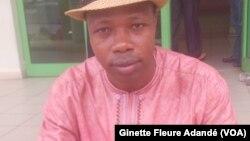 Athanase Houssou, secrétaire général du syndicat du ministère des transports à Cotonou, le 14 juin 2017. (VOA/Ginette Fleure Adandé)