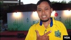 "Koordinator ""Hafizh On The Street"" Jakarta, Muhammad Habiburrahim Toha (foto: VOA/Nahaba)."