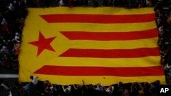 Zastava Katalonije na dan referenduma