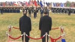 VOA现场:帕内塔和习近平在五角大楼检阅美军仪仗队