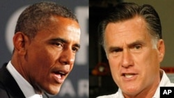 奥巴马(左)和罗姆尼(右)