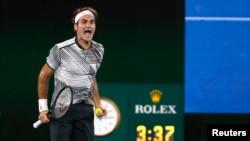 Federer a battu Nadal en finale de l'Australian Open, à Melbourne, le 29 janvier 2017.