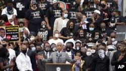 Borac za građanska prava, sveštenik Al Šarpton govori na maršu u Vašingtonu (Foto: AP/Jacquelyn Martin, Pool)