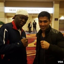 M. Waseem and Jeff Mayweather in Las Vegas