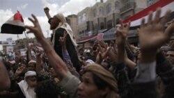 مخالفان دولت صالح روز سه شنبه در صنعا خواستار استفای وی شدند - ۲۶ آوریل ۲۰۱۱