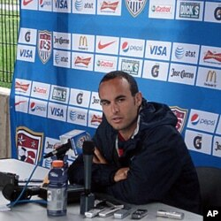 US soccer team midfielder Landon Donovan, 18 May 2010