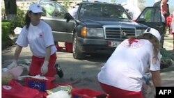 Vullnetarët e Kryqit të Kuq Shqiptar në mbështetje të ndihmës së parë