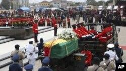 Tang lễ Tổng thống Ghana John Atta Mills ở Accra, Ghana, ngày 10/08/2012