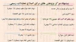 طرح کاهش تعطیلات رسمی ایران در مجلس و واکنش مذهبی ها