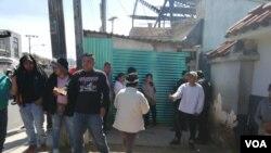 Los deportados guatemaltecos a su regreso desde Estados Unidos el 3 de diciembre de 2019.
