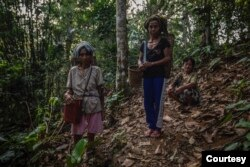 Para perempuan Dayak Siberuang (Foto: Courtesy/©Kemal Juffri for Panos Pictures/Food and Land Use Coalition).