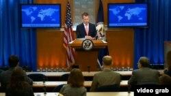 美国国务院新闻办公室主任杰夫•拉特克(美国务院网站视频截图)